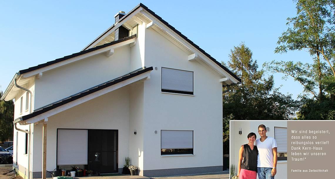 Bauen mit Kern-Haus Magdeburg in Zerbst/Anhalt Pultdachhaus von Kern-Haus in Zerbst/Anhalt