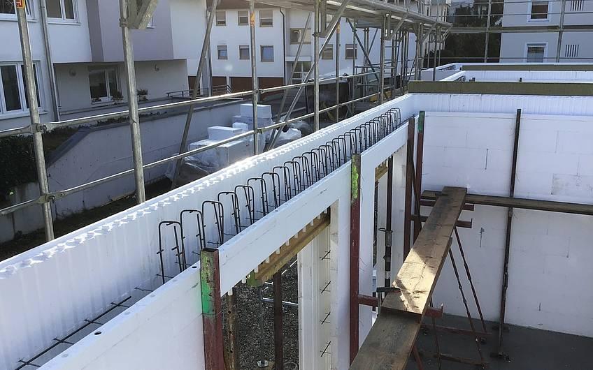Massivhaus Neubau Wand Duotherm