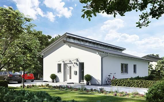 Massivhaus Kern-Haus Bungalow Vita Pult Eingangsseite
