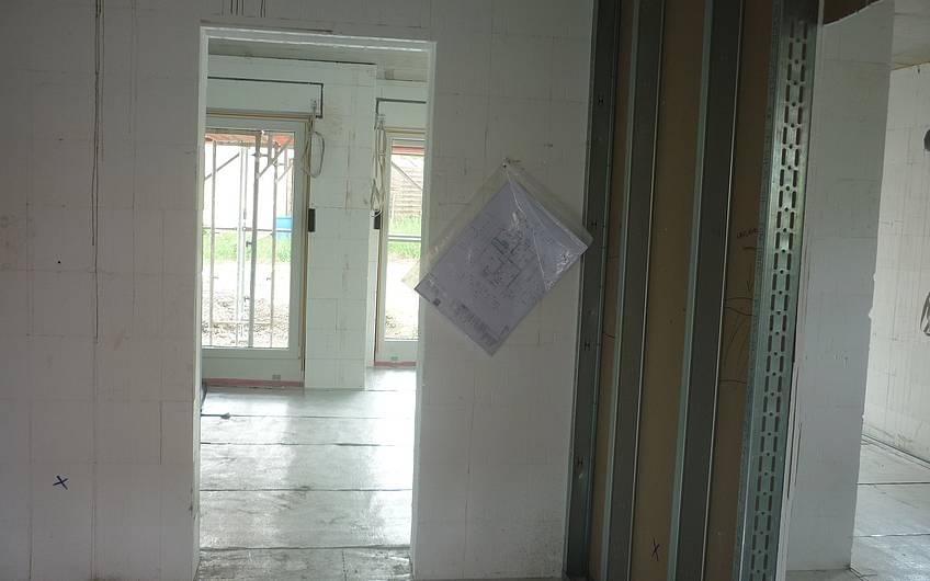 Isolierung Bodenplatte und Trockenbau Erdgeschoss