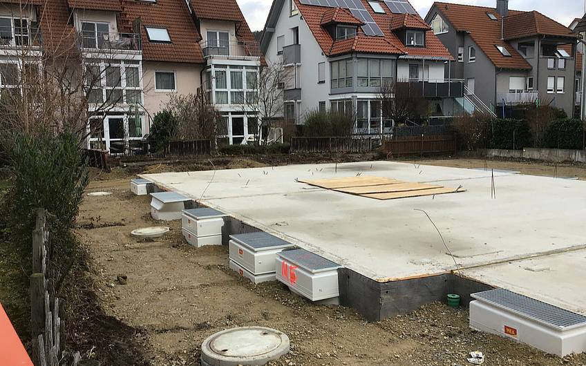 Bodenplatte Neubau Remstal Korb