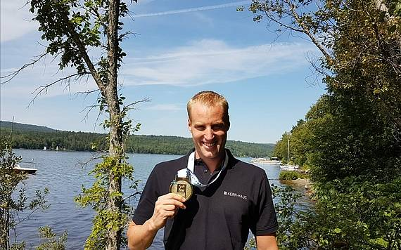Schwimmer Christian Reichert in Kanada
