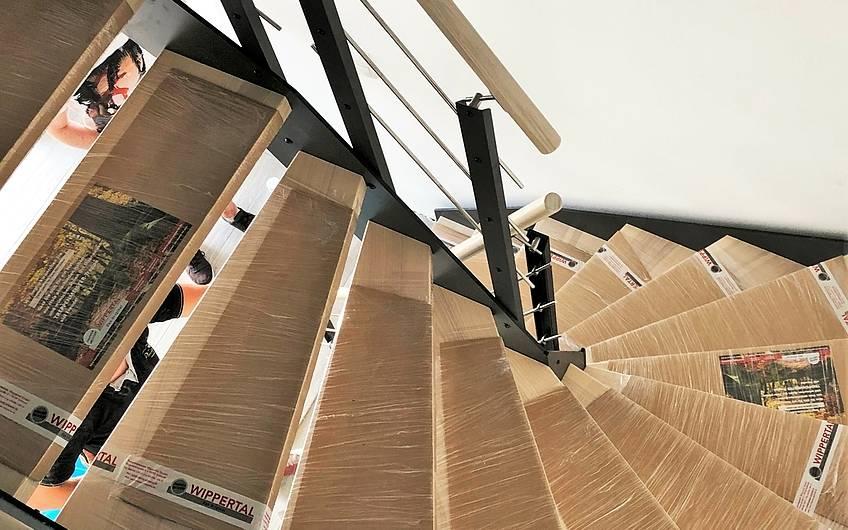 Treppenstufen im Kern-Haus Centro in Magdeburg
