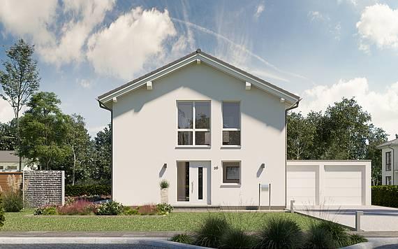 Massivhaus Kern-Haus Architektenhaus Jara Eingangsseite