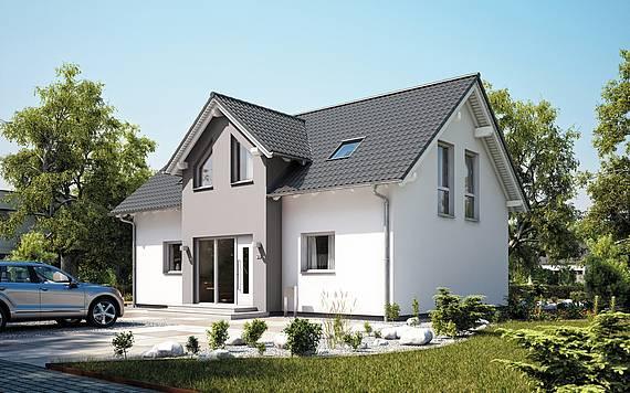 Massivhaus Kern-Haus Familienhaus Aura Eingangsseite