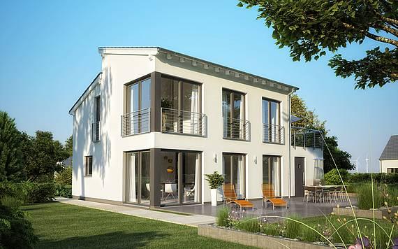 Massivhaus Kern-Haus Familienhaus Vision Plus Gartenseite