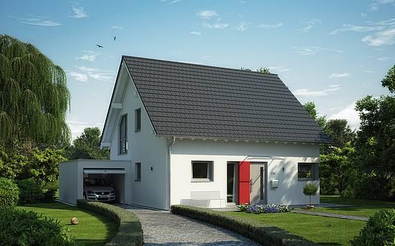 Massivhaus Kern-Haus Familienhaus Luna Plus Eingangsseite