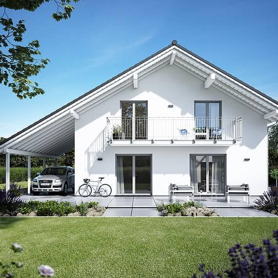 Massivhaus Kern-Haus Familienhaus Luce Eingangsseite