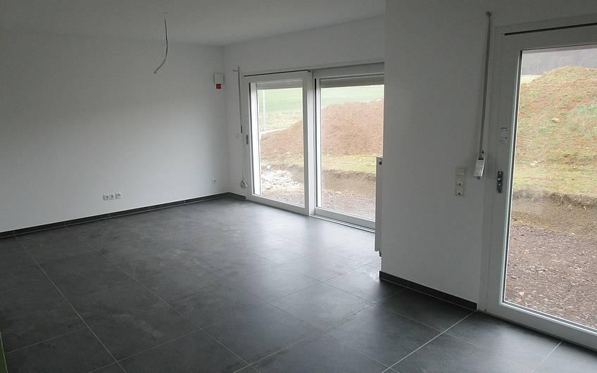 Das Wohnzimmer ist gestrichen.