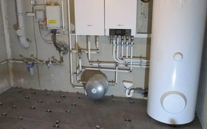 Die gesamte Technik von dem Kern-Haus wurde im Hauswirtschaftsraum untergebracht.