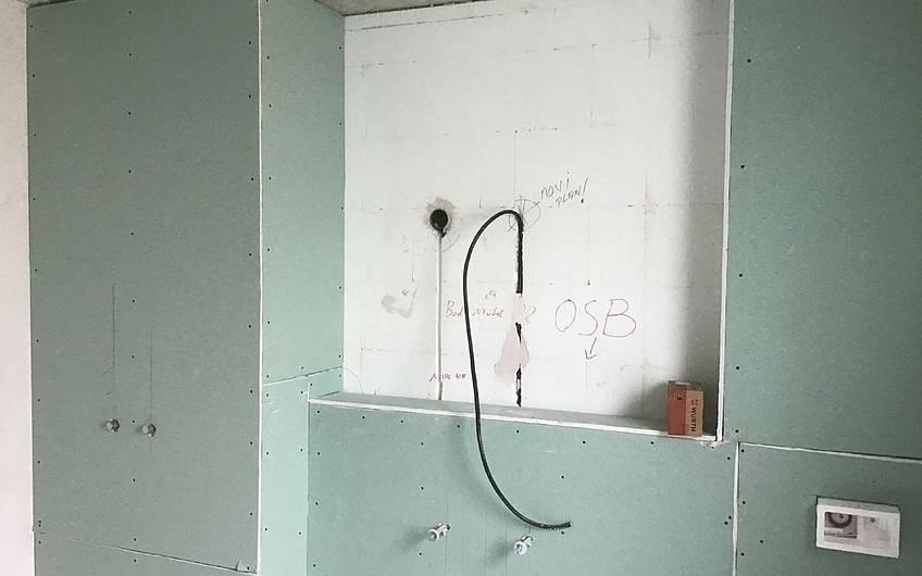 Trockenbau im Badezimmer der individuell geplanten Doppelhaushälfte Twin XXL von Kern-Haus in Korb