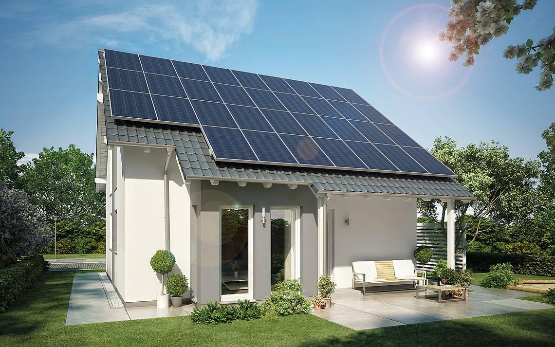 Massivhaus Plusenergiehaus Familienhaus Kern-Haus Family