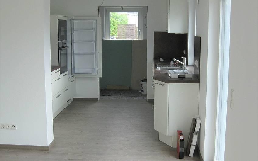 Die Küchenmontage ist abgeschlossen.