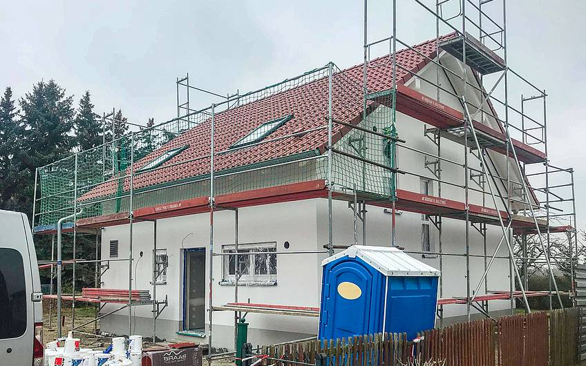 Außenputz Familienhaus Kern-Haus