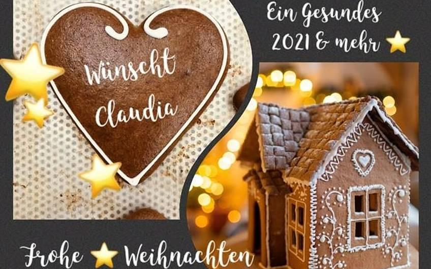 Weihnachtskarte der Bauherrin
