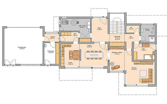 Kern-Haus Artea Grundriss Erdgeschoss