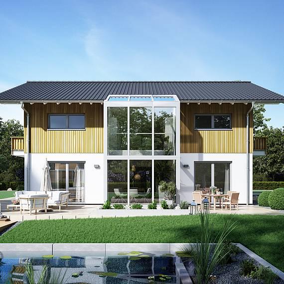 Massivhaus Kern-Haus Familienhaus Apos Wintergarten