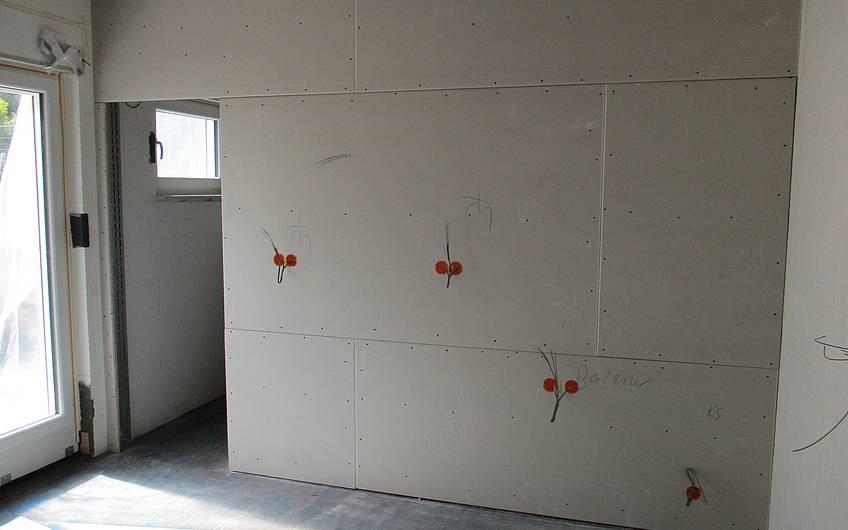Ausgeführte Elektrorohinstallation.