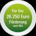Für Sie: 26.250 Euro Förderung nach BEG