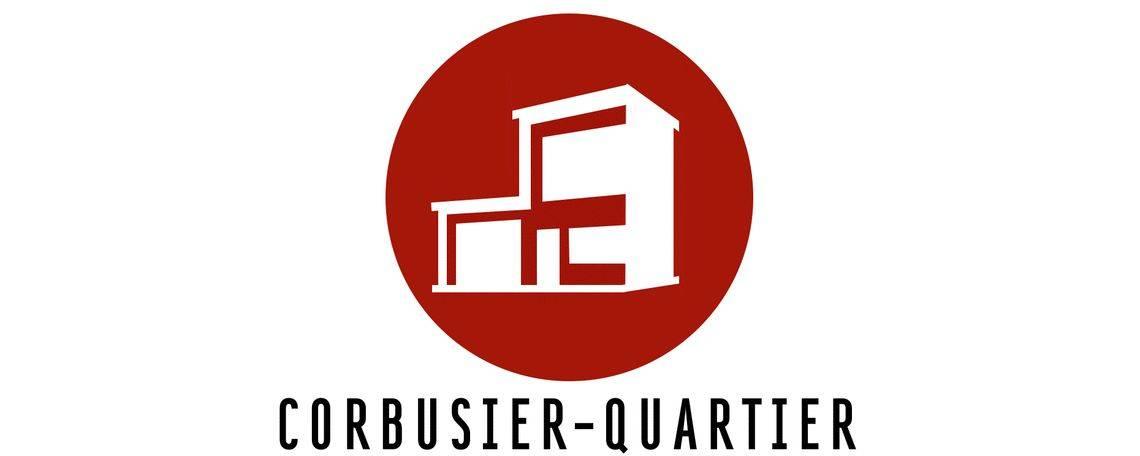 Logo eines der Quartiere im Rheinquartier: Corbusier-Quartier