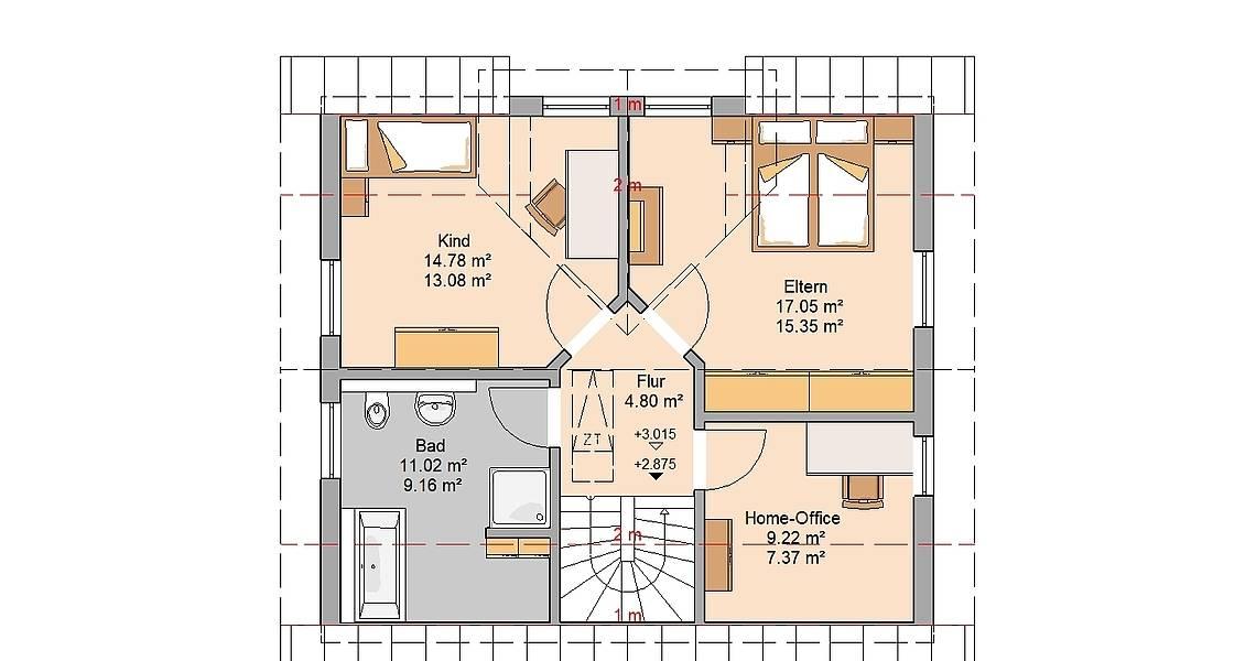 Kern-Haus Loop Plus Grundriss Dachgeschoss
