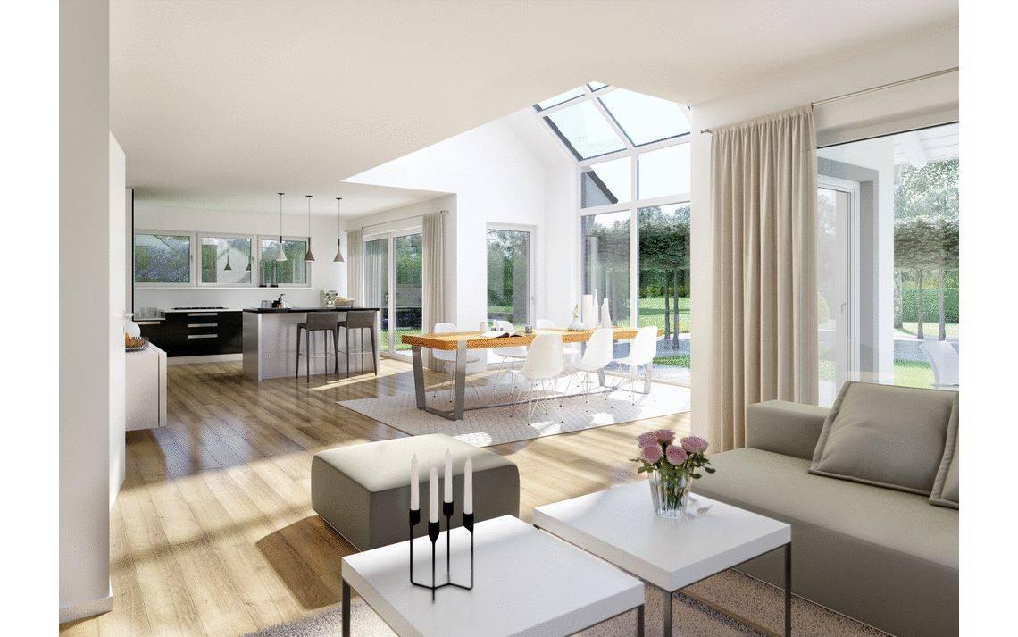 Massivhaus Kern-Haus Familienhaus Maxime Wohnzimmer