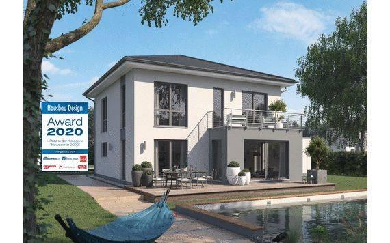 Kern-Haus Stadtvilla Certo Gartenseite Hausbau Design Award 2020