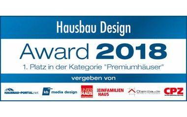 Urkunde Hausbau Design Award 2018