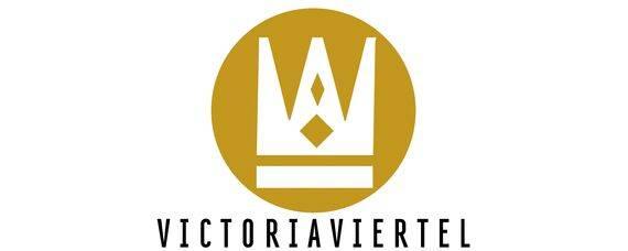 Logo eines der Quartiere im Rheinquartier: Victoriaviertel